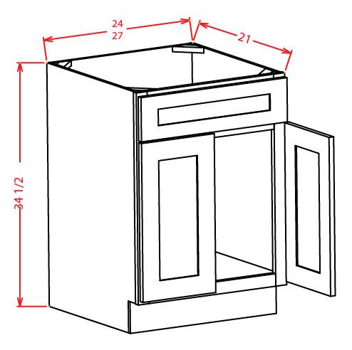 Beau Standard Vanity Sink Base Cabinet   False Drawer