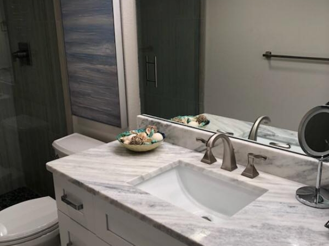 Totally updated and remodeled second bathroom.